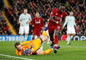 Liverpool were held to a goalless draw against Bayern Munich in their Champions League last-16 first leg tie at Anfield.