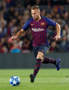 Barcelona midfielder Arthur is back in training and could return to action before the end of the month.