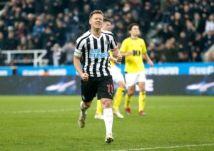 Matt Ritchie is '100 per cent' happy at Newcastle and will not be looking to leave St James' Park at the end of this season.