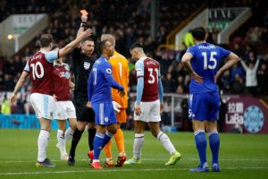 Burnley boss Sean Dyche was left frustrated as his side slipped to a 2-1 home defeat against the 10 men of Leicester City.
