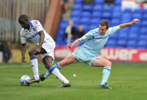 Tranmere defender Zoumana Bakayogo is a major doubt for his side's Sky Bet League Two clash with Grimsby at Prenton Park.