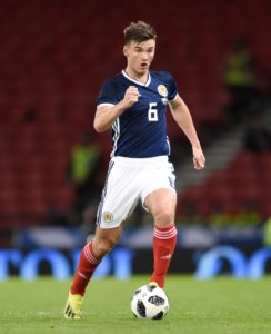 Scotland are short of left-backs for their Euro 2020 qualifier in Kazakhstan after Kieran Tierney was ruled out through injury.