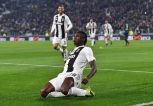 Nineteen-year-old Moise Kean scored twice as Juventus went 19 points clear at the top of the Serie A table with a 4-1 home victory over Udinese.