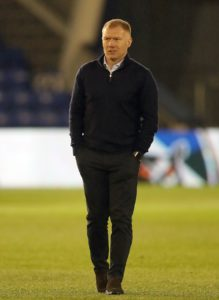 Oldham begin life after Paul Scholes against Tranmere on Saturday following the former Manchester United and England midfielder's shock resignation.