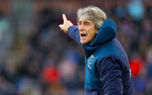 West Ham boss Manuel Pellegrini insists his side need to be aiming for the top six next season under his stewardship.