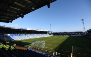 Portsmouth overcame managerless Bradford and a drone to get their promotion push back on track with a thumping 5-1 victory.