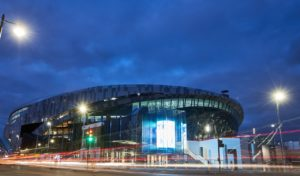 Tottenham will take another step towards moving into their new stadium on Sunday when they hold the first test event.