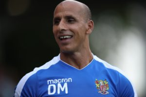 Dino Maamria was left cursing a 'season-defining' minute in which his Stevenage side fell to seven points off the play-offs with a 2-2 draw at Macclesfield.