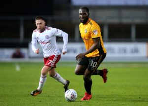 Colchester forward Frank Nouble is back in contention for the home game against Tranmere after suspension.