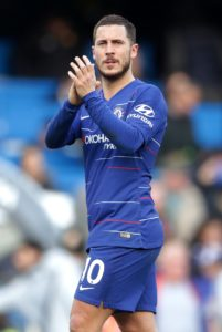 Real Madrid target Eden Hazard says he is not thinking about his future just yet and is staying focused on Chelsea for now.