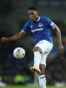 Everton are sweating on the fitness of defender Yerry Mina after he was forced off in the first half of Colombia's game with South Korea.