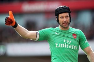 Petr Cech looks set to start in goal when Arsenal take on his former club Rennes in the first leg of their Europa League last 16 tie.