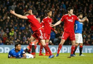 Rangers have appealed against the yellow card Alfredo Morelos received during their cup exit against Aberdeen