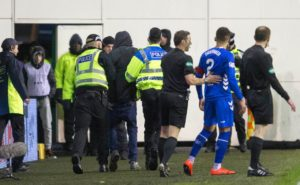 The Scottish Professional Football League has vowed to take appropriate action following the latest incident of crowd trouble at Easter Road.