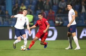 Declan Rice was handed his first England start in the Euro 2020 qualifier against Montenegro.