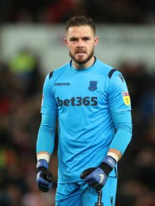 Jack Butland stood in Derby's path with a string of saves that earned Stoke a point in a 0-0 draw at Pride Park.