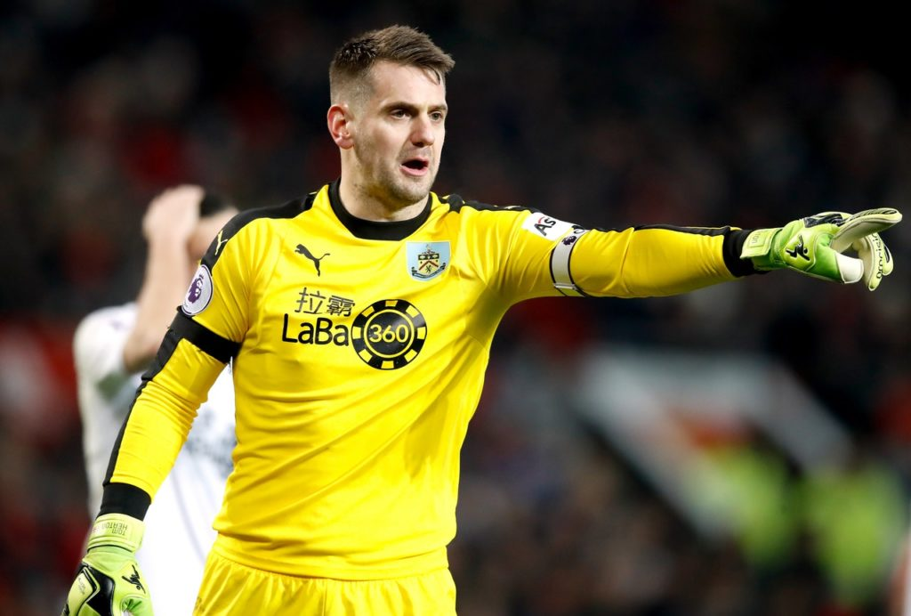 Burnley boss Sean Dyche says he's pleased to see Tom Heaton and James Tarkowski handed recalls to the England squad.