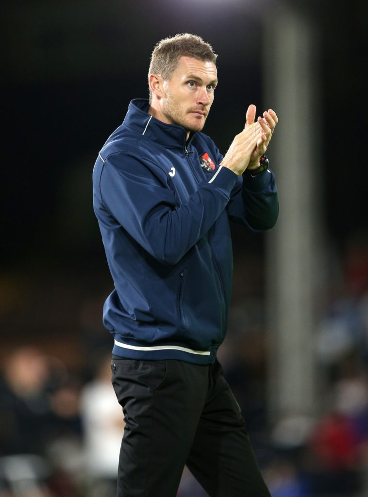 Matt Taylor heaped praise on his Exeter side as they got their play-off push back on course with a 3-0 win over Colchester.