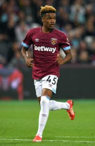 West Ham youngster Grady Diangana says he has been inspired by Declan Rice's recent surge through the ranks.