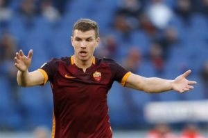 Everton's search for a striker could lead them to make a move for Bosnian ace Edin Dzeko in the summer.