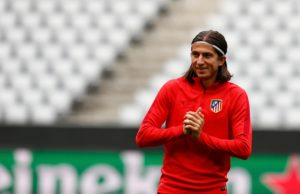 Atletico Madrid have been handed a boost following the return to training of experienced full-back Filipe Luis.