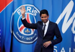 Paris Saint-Germain president Nasser Al-Khelaifi is refusing to look too far ahead in the Champions League until they have overcome Manchester United.