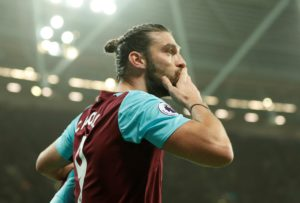 West Ham will be without the services of Andy Carroll for the home clash with Huddersfield on Saturday because of an ankle injury.