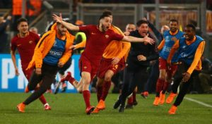 Defender Kostas Manolas insists he is happy at Roma despite rumours of a possible summer move to Manchester United.