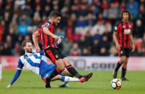 Bournemouth midfielder Andrew Surman is expected to miss the rest of the season with a calf injury.