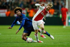Midfielder Frenkie de Jong feels Ajax have a decent chance against Juventus in the Champions League quarter-finals.