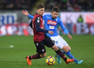 Arsenal are stepping up their pursuit of Cagliari's Nicolo Barella after a scout saw him score and take man of the match for Italy.