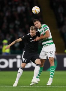 Celtic's Croatian centre-half Filip Benkovic is closing in on a return from injury and could be fit in time for the Old Firm derby.