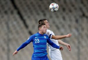 Leicester City sent scouts to watch Greece left-back Leonardo Koutris in action when they faced Liechtenstein on Saturday.