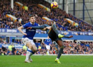 Everton defender Jonjoe Kenny admits their performance in the second half was way below par after letting a two goal lead slip.