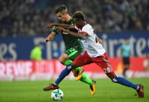 Fin Bartels made an emotional return for Werder Bremen on Friday night after 15 months on the sidelines with a Achilles injury.