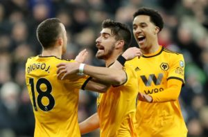 First-half goals from Diego Jota and Raul Jimenez saw Wolves secure a 2-0 victory against Cardiff City on Saturday.