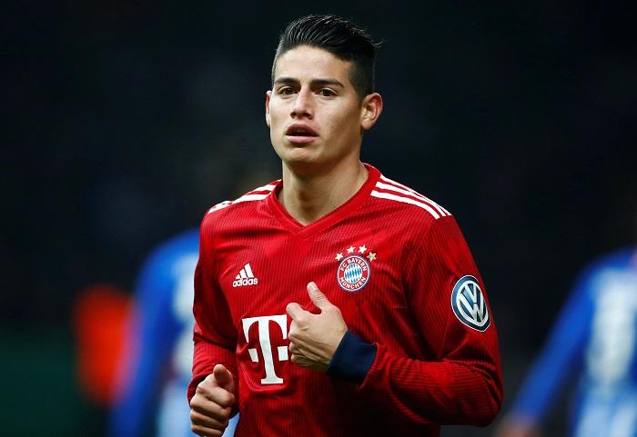 Real Madrid are set to listen to offers of 50m euros this summer for James Rodriguez with Bayern Munich not expected to sign him permanently.