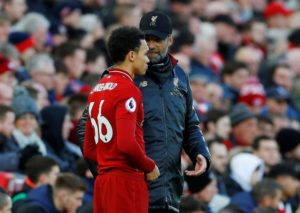 Liverpool right-back Trent Alexander-Arnold has emerged as an injury doubt for next week's trip to Bayern Munich.