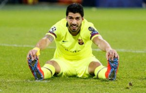 Barcelona have revealed Luis Suarez is facing up to two weeks on the sidelines with an ankle injury.