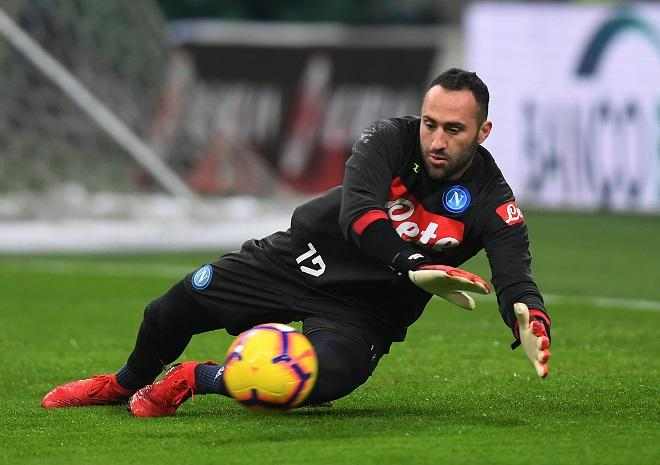 David Ospina is making good progress after he picked up a head injury in Napoli's win over Udinese, his father Hernan Ospina said.