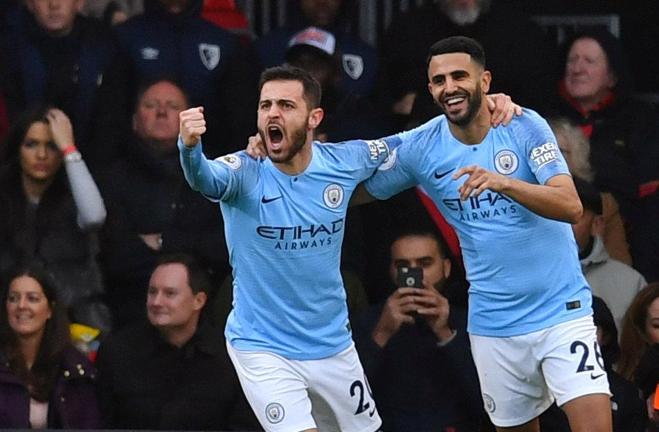 Riyad Mahrez scored the crucial goal as Manchester City returned to the top of the table by beating Bournemouth 1-0.