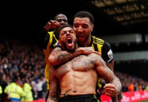 Andre Gray scored in injury time as Watford beat Leicester 2-1 to condemn Brendan Rodgers to defeat in his first game in charge of the Foxes.