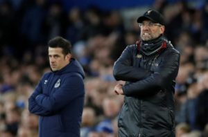 Liverpool missed the chance to go to the top of the Premier League after being held to a 0-0 draw in the Merseyside derby at Everton.