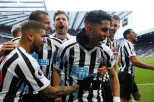 Newcastle United produced a thrilling comeback as they hit back from 2-0 down to beat mid-table Everton 3-2 at St James' Park.