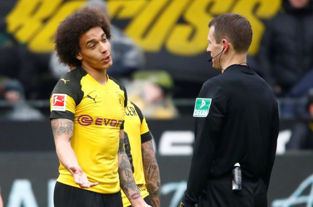 Axel Witsel said 'we'll see who is top' after Borussia Dortmund's trip to Bayern Munich after their rivals replaced them at the summit.