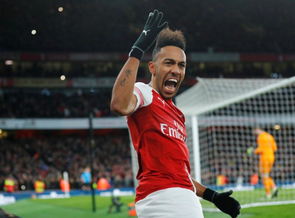 Pierre-Emerick Aubameyang scored twice with Ainsley Maitland-Niles also on target as Arsenal beat Rennes 3-0 for a 4-3 aggregate win.