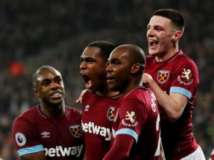 Manuel Pellegrini praised the character of his West Ham players as they fought back to beat Huddersfield 4-3.