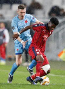 Bordeaux have been hit by the news that talented midfielder Aurelien Tchouameni has broken his leg in training.