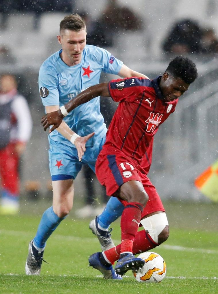 Bordeaux have been hit by the news that talented midfielder Aurelien Tchouameni has broken his leg in training.
