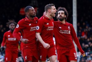 Liverpool moved two points clear at the top of the Premier League table as they edged a nervy 2-1 victory at lowly Fulham.